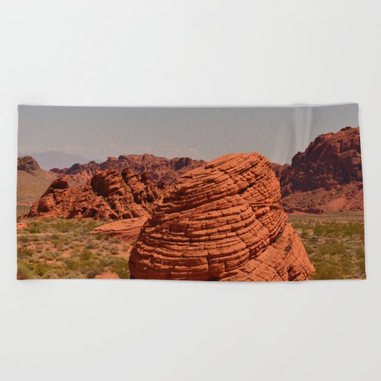 Red Valley Beach Towel