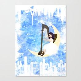 Harp girl 5: Connection Canvas Print