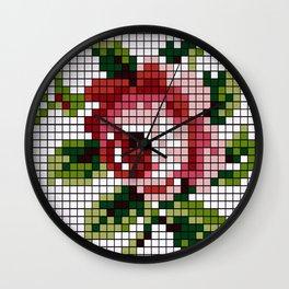Shabby Chic Rose Wall Clock