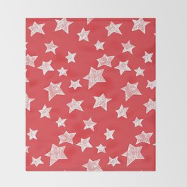 Christmas stars pattern Throw Blanket