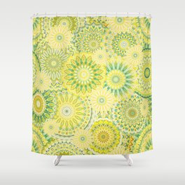 Mandala 184 (Floral) Shower Curtain