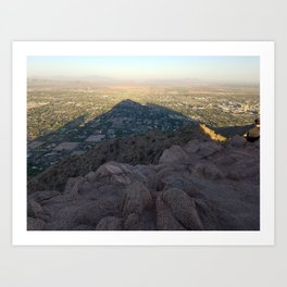 In the Shadow of a Mountain Art Print