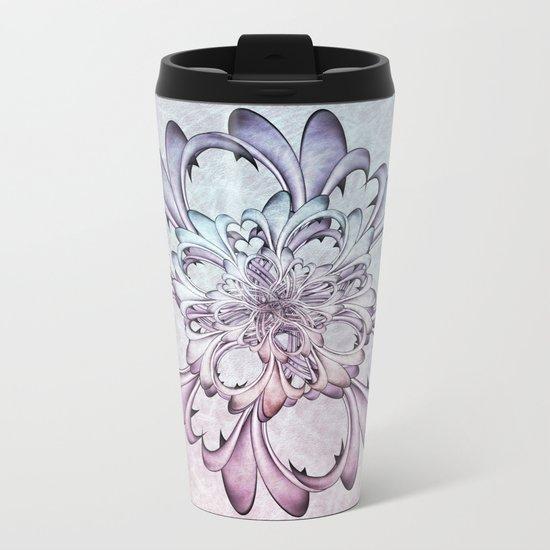 Floral abstract . Metal Travel Mug