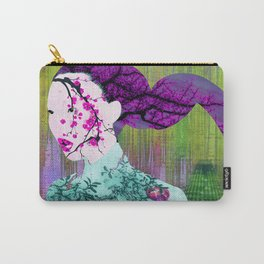 Asian Flower Woman Purple Asia Japan Japanese Art Carry-All Pouch