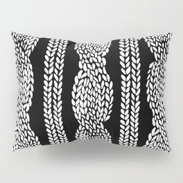 Cable Black Pillow Sham
