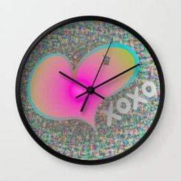 Neon Heart - XOXO Wall Clock