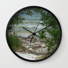 Lemon Bay Waves DPG160517b Wall Clock