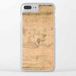 Map Of Havana 1762 Clear iPhone Case