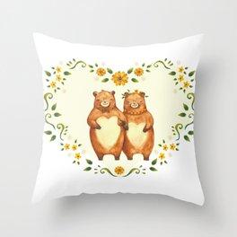 love bear Throw Pillow