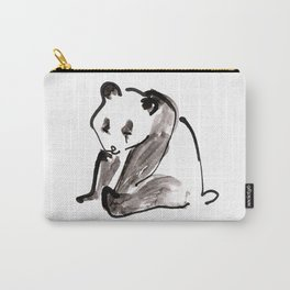 Cute Little Panda Bear Ink Illustration Carry-All Pouch