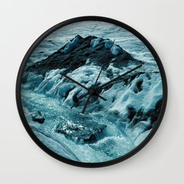 MELTING ICE #1 - Up in the Mountains Wall Clock