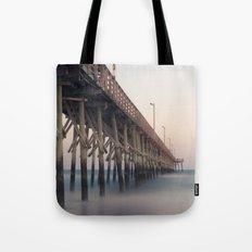 Pier at Dusk Tote Bag