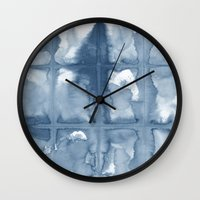 indigo Wall Clocks featuring Indigo by Dream Of Forest