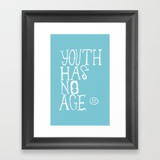 Youth Has No Age (Blue) Framed Art Print