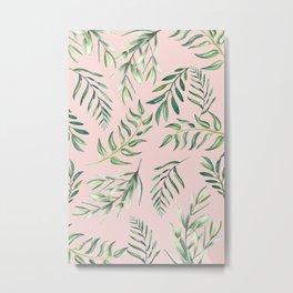 Floating Leaves Pink #society6 #buyart Metal Print