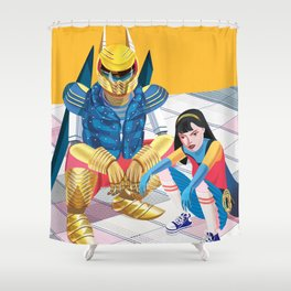Asian Squatting Shower Curtain