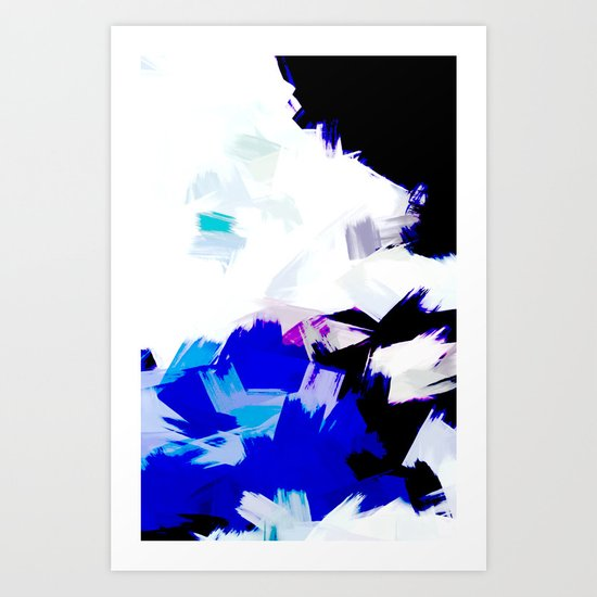 BLOSSOMS - BLUE Art Print