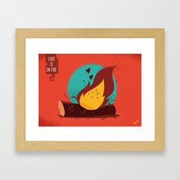 :::Love is on the fire::: Framed Art Print