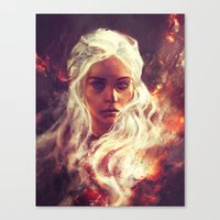 daenerys Canvas Prints featuring Fireheart by Alice X. Zhang