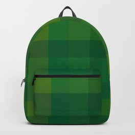 Green Check / Plaid Striped Digital Pattern Backpack