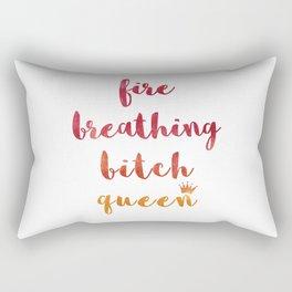 Fire Breathing Bitch Queen Rectangular Pillow