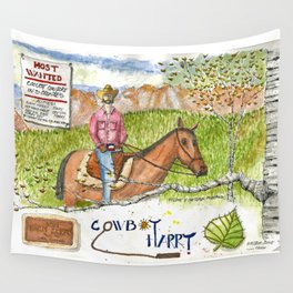 Cowboy Harry Wall Tapestry