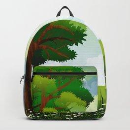Beautiful Green Pasture Harmonic Day Dreamy UHD Backpack