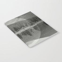Mountain Mirror BW Notebook