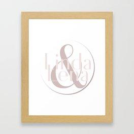 Linda & Lena Framed Art Print