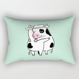 Cow Hugs Rectangular Pillow