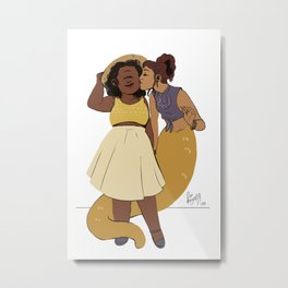 LN summer: Pam and Radha Metal Print