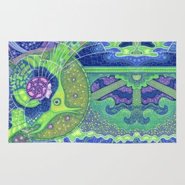 Dream of the fullmoon (mirrored version) Rug
