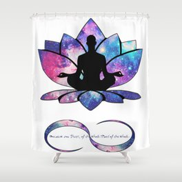 Free your Soul to Infinity Shower Curtain