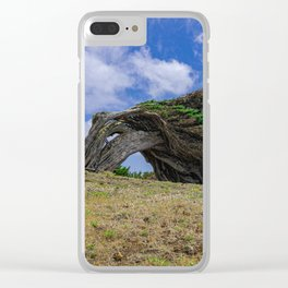 Phoenicean juniper Clear iPhone Case