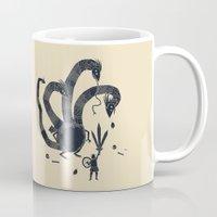 hydra Mugs featuring hydra(dark) by Louis Roskosch
