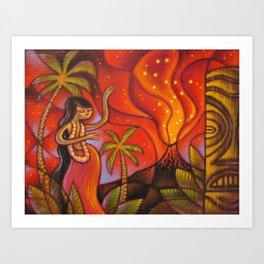 Lava Light Dance Art Print