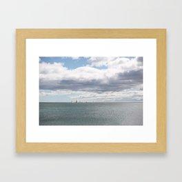 Sailboats on the Sea Framed Art Print