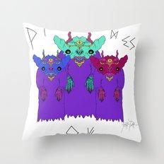 The Strange Wizards of Three Throw Pillow
