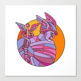 Messenger of the Gods Mosaic Color Canvas Print