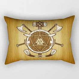 d20 Viking Warrior Rectangular Pillow