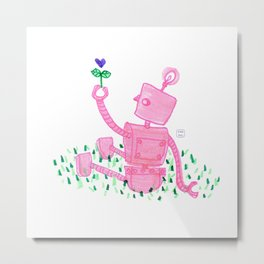 What A-bot The Flowers? Metal Print