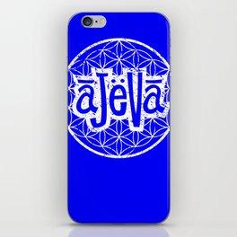 Ajeva Logo Blue iPhone Skin
