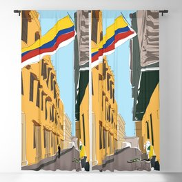 Cartagena de Indias, Colombia Travel Poster Blackout Curtain