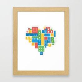Lovely Blocks Framed Art Print