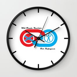Will Trade Racists for Refugees Wall Clock