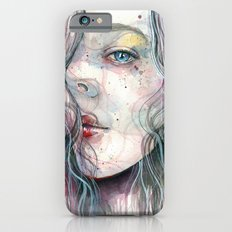 Sleepy violet, watercolor Slim Case iPhone 6s