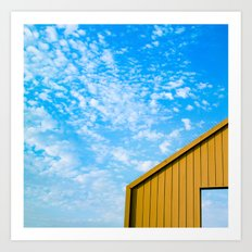 Yellow on Blue Art Print
