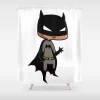 bat man Shower Curtains featuring Bat-Man by Dorian Vincenot