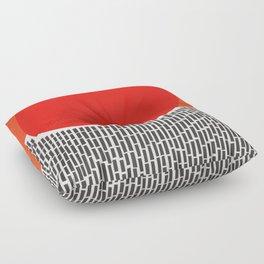 Sunshine And Rain Abstract Floor Pillow