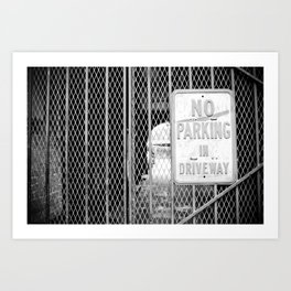 Signs: No Parking Art Print